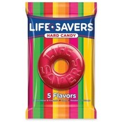 Marjack Lifesavers, 5 Flavors, 6.25 oz. Bag, 12/PK