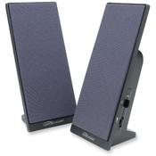 "Compucessory Flat Panel Speakers,3"" Full Range,6' Cord,3""x8"",Black"