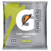 Quaker Foods Gatorade Mix Pouches,Makes 2-1/2 Gal, 21 Oz., Lemon Lime