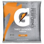 Quaker Foods Gatorade Mix Pouches,Makes 2-1/2 Gal, 21 Oz., Orange