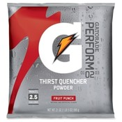 Quaker Foods Gatorade Mix Pouches,Makes 2-1/2 Gal, 21 Oz., Fruit Punch