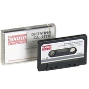 Sparco Products Dictation Cassette, Standard, 60 Minute