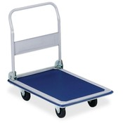 "Sparco Products Folding Platform Truck,660 lb,24-3/4""x36""x29-1/2"",Blue"