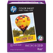 "Hewlett-Packard Color Inkjet Paper,24Lb,8-1/2""x11"",96 Bright,500/PK,White"