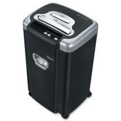 Fellowes Mfg. Co. Microshred Shredder,10Sht. Cap.,6.4 Gal.,16&quot;x13&quot;x27&quot;, BK/SR