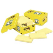 "3M Commercial Office Supply Div. Post-it Notes, Original, 3""x5"", 90 Sheets/Pad, 18/PK, Canary"