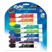 Sanford Ink Corporation Dry-erase Marker, Chisel Point, 12/ST, Assorted