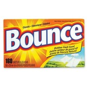 Procter & Gamble Commercial Bounce Dryer Sheets, Reduces Static, 160 Sheets/BX