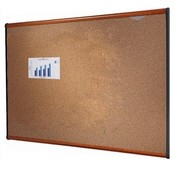 Quartet  Bulletin Board, 3&#39;x2&#39;, Light Cherry Frame