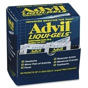 Advil Liqui-Gels, Single Dose Med Pack, 2/PK, 50PK