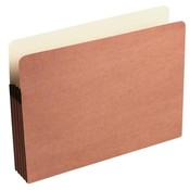 Acco/Wilson Jones  Recycled File Pocket, 3-1/2&quot; Expansion, 9-1/2&quot;x11-3/4&quot;, Red
