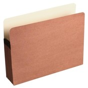 Acco/Wilson Jones  Recycled File Pocket, 5-1/4&quot; Expansion, 9-1/2&quot;x11-3/4&quot;, Red