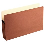 Acco/Wilson Jones  Recycled File Pocket, 5-1/4&quot; Expansion, 9-1/2&quot;x14-3/4&quot;, Red