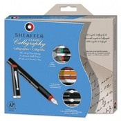 Sheaffer Pen Calligraphy Maxi Kit,w/3 Pens,3 Nibs,14 Assorted Color Ink