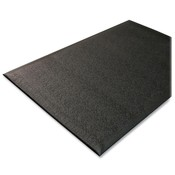 Genuine Joe  Anti-Fatigue Mat, Nitrile Rubber/Vinyl, 3'x5', Black