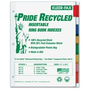 Kleer-Fax, Inc.  Binder Index Tabs, 8 Tab, Letter, Assorted