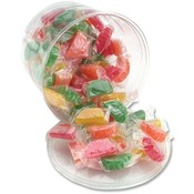 Office Snax Tub of Candy, Assorted Fruit Slices, 2 lb. Wholesale Bulk