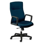"HON Company Executive High-back Chair,25-1/2""x27""x46"",Mariner Blue/Black"