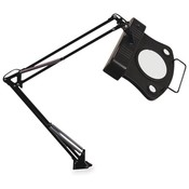"Ledu Corporation Magnifier Lamp, 27-1/2"" Reach, On/Off Rocker Switch, Black"