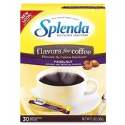 Johnson &amp;amp; Johnson Splenda Hazelnut Sweetener, No Calorie, 30/BX