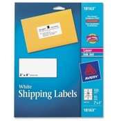 "Avery Consumer Products  Shipping Labels,f/ Laser/Inkjet Printers,2""x4"",10 SH/PK,WE"