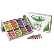 Binney and Smith  Jumbo Crayons, Nontoxic, 200/BX,