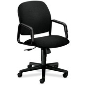 HON Company Executive High Back Chair, 26&quot;x27&quot;x39-3/4&quot;, Black/Black