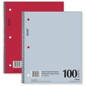 Mead Notebook,1 Subject,College Ruled,100 Shts,8-1/2x11,Asst. Wholesale Bulk
