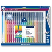 Staedtler, Inc. Triplus Markers,Water-based Ink,Fiber-tip,20/PK,Assorted