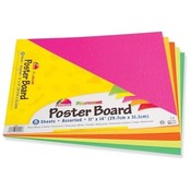 "Pacon Corporation  Poster Board, Recyclable, 11""x14"",5 Sh/PK, Fluorescent Asst."