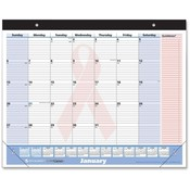 "At-A-Glance  Quicknotes Monthly Desk Pad,13 Month,Jan-Jan,22""x17"""