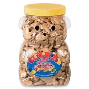 Marjack Bear Cookie Jar,w/ Animal Crackers,Re-usable Container,24oz.