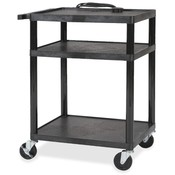 "Balt, Inc.  All-Purpose Cart,Adjustable,20' Cord,24""x18""16-x42"",Black"