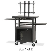 "Balt, Inc. LCD Cart,Height Adjustable,Box 1 of 2,24""x18""x62"",Black"