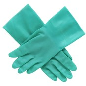 "R3 Safety  Nitrile Unlined Glove, Size 9, 12""L, .015 Mil Thick, Green"