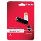 Imation Pivot Flash Drive, USB 2.0, 16GB, Software Encryption