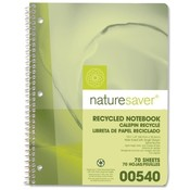 Nature Saver Recycled Notebooks,Wide Ruled,70 Shts,10-1/2x8,GN Cvr Wholesale Bulk