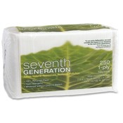 "Seventh Generation Recycled Napkins, 1-Ply, 11-1/2""x12-1/2"", 250/PK, White"