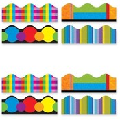 Trend Enterprises  Color Collage Themed Trimmer, 12 Panels, 156' Long, Multi