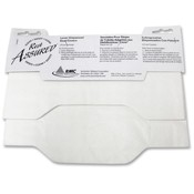 Rochester Midland toilet Seat Covers, Flushable/Biodegradable, 125/PK, White