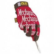 R3 Safety  Mechanix Glove, 2-Ply, Size 9, Red