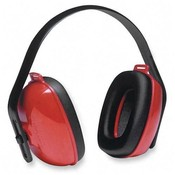 R3 Safety Ear Muffs, 3-Positions, Adjustable Crown, Red/Black Wholesale Bulk