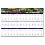"House of Doolittle  Wall Calendar,Laminated,""Gardens"",12 Month,Jan-Dec,24""x37"""
