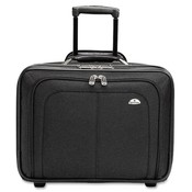 Samsonite Corporation Rolling Notebook Case,Retractable Handle,14'x9'x17-1/2', BK Wholesale Bulk
