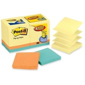 "3M Commercial Office Supply Div. Original Pop-up Notes,100 Sheets,3""x3"",18/PK,Yellow/Bright"