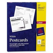 Avery Consumer Products Laser/Inkjet Postcard,Perforated,5-1/2x4-1/4,200/BX,White Wholesale Bulk
