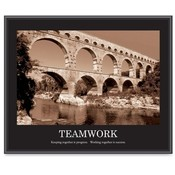 "Advantus Corp.  ""Teamwork"" Poster, 24""x30"", Black Frame"