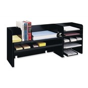 "MMF Industries  Desk Organizer w/Dividers, 47-1/4""x9-1/2""x18-3/8"",Black"