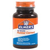 Elmer's Products Inc  Rubber Cement, Plastic Bottle w/ Brush, 4 oz.