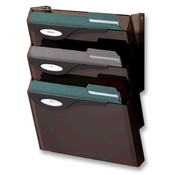 "Rubbermaid  Wall File Starter Set, 4 Compartment, 13""x4""x17"", Smoke"